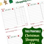 Free Christmas Shopping List Printable: Get Organized!