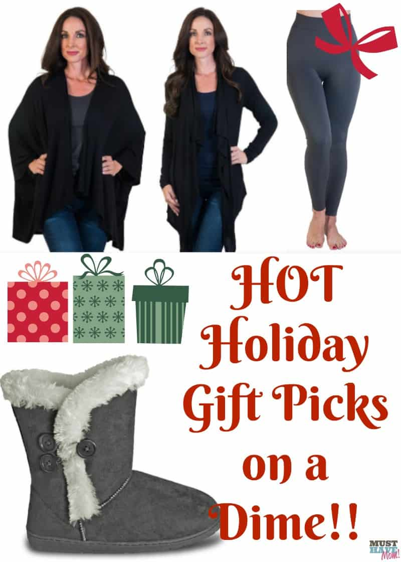HOT holiday gift picks on a dime! How to snag trendy fashion finds for bargain prices! I'll show you my secret! Christmas gift ideas for women, gift ideas, fashion, winter boots, leggings, cardigans at discount prices.