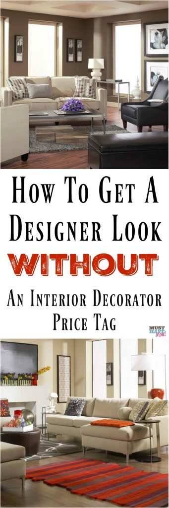 How to get a designer look without an interior decorator's price tag! Tips for decorating your home to look expensive without hiring an interior designer.