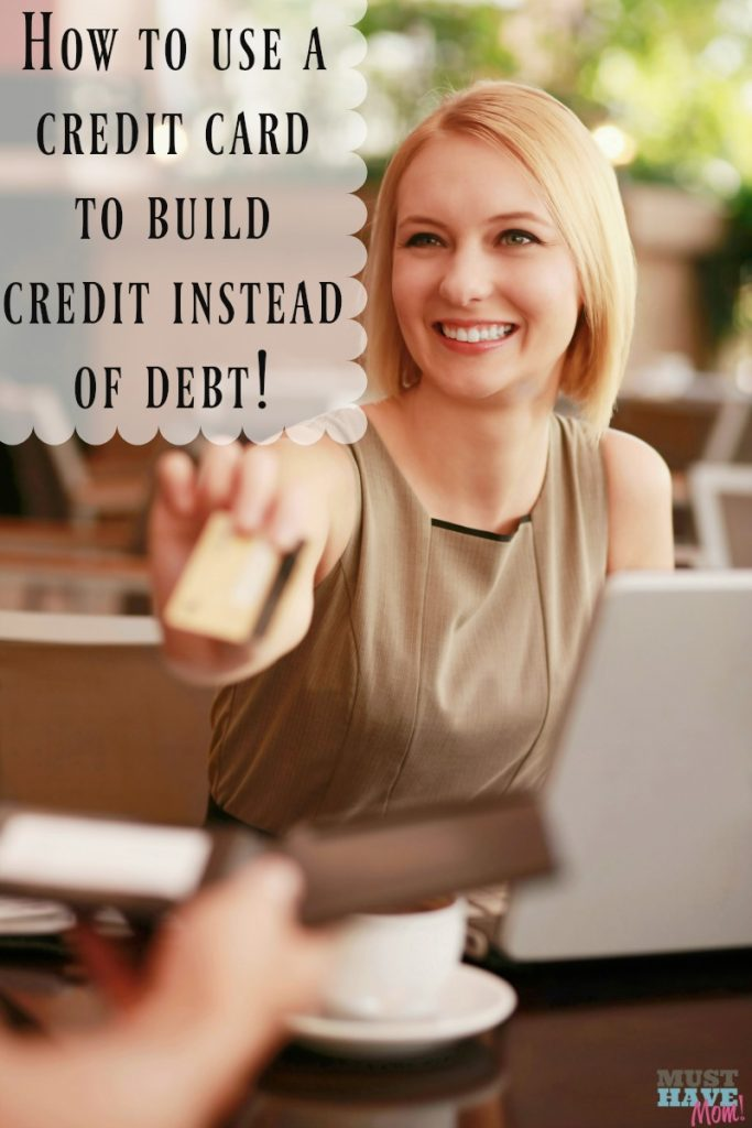 The trick to using a credit card to build credit instead of debt. Tips for teaching young adults to use credit cards wisely.