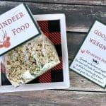 Santa's Magic Reindeer Food with Free Printable Bag Topper & Poem