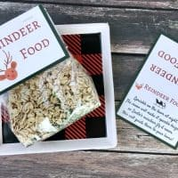 Santa's Magic Reindeer Food with Free Printable Bag Topper & Poem
