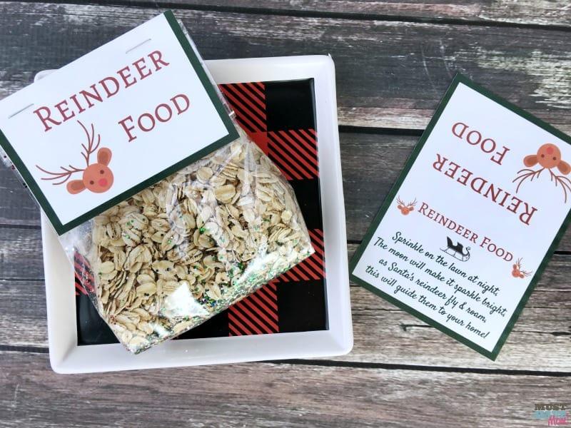 Santa's Magic Reindeer Food recipe and free printable reindeer food poem bag topper! Make this reindeer food to put out for Santa's reindeer on Christmas Eve!