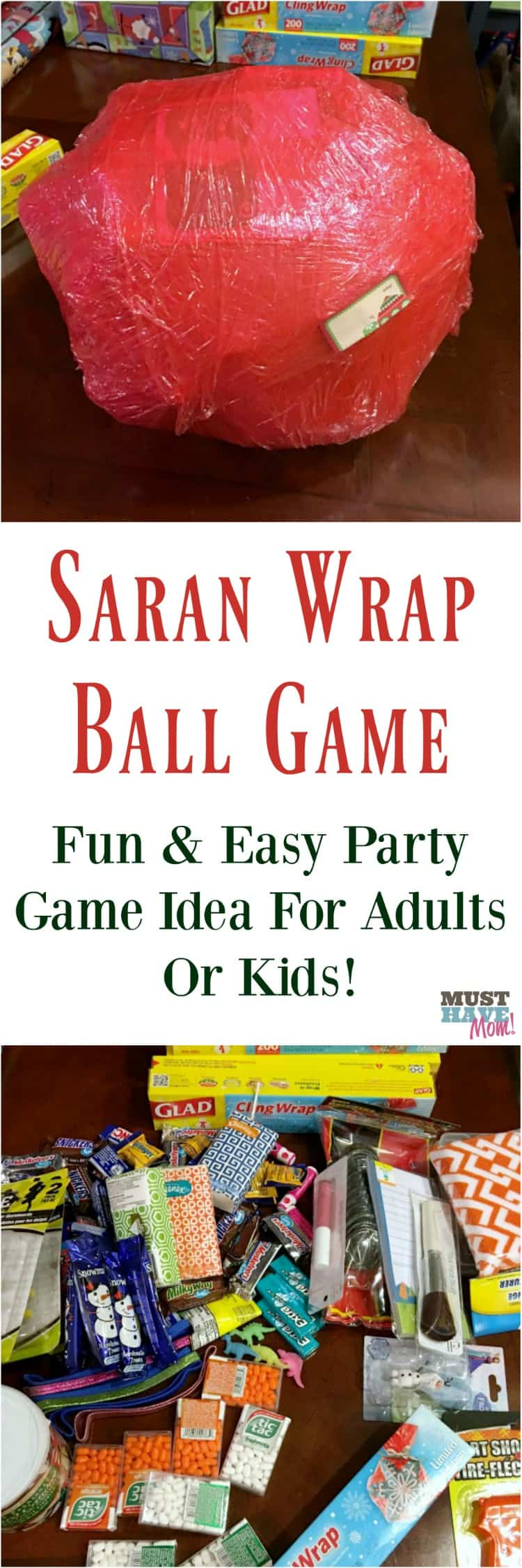 saran wrap ball game how to make and play the game for adults or kids