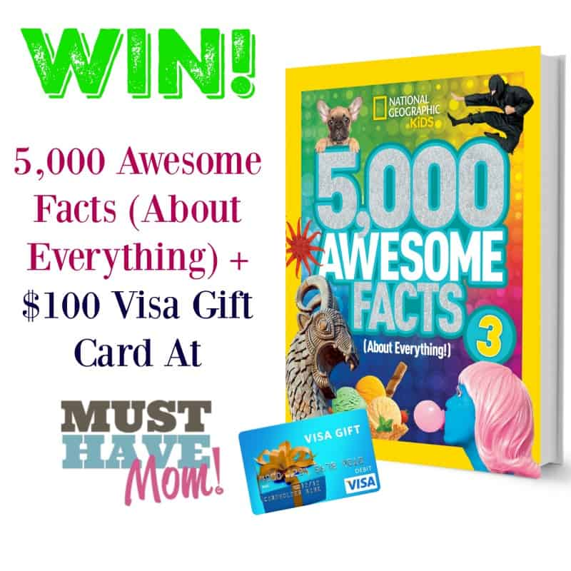 Win a $100 Visa Gift Card and 5,000 Awesome Facts about everything book