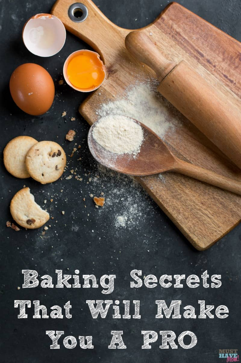 Baking secrets that will make you a pro! How to achieve better baking results with these baking tips! Get perfect cookies, cakes and more.