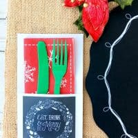 Free Rustic Christmas Party Printables + Christmas Card Deal!