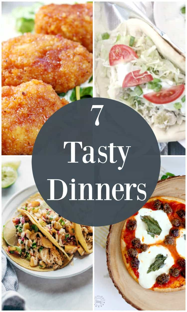 7 tasty dinners! Free meal plan for the week for busy families. 7 dinner recipe to change up your supper routine. Free meal planning resources!