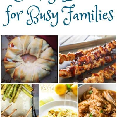 Weekly Dinner Ideas For Busy Families: Weekly Meal Plan – Week 12