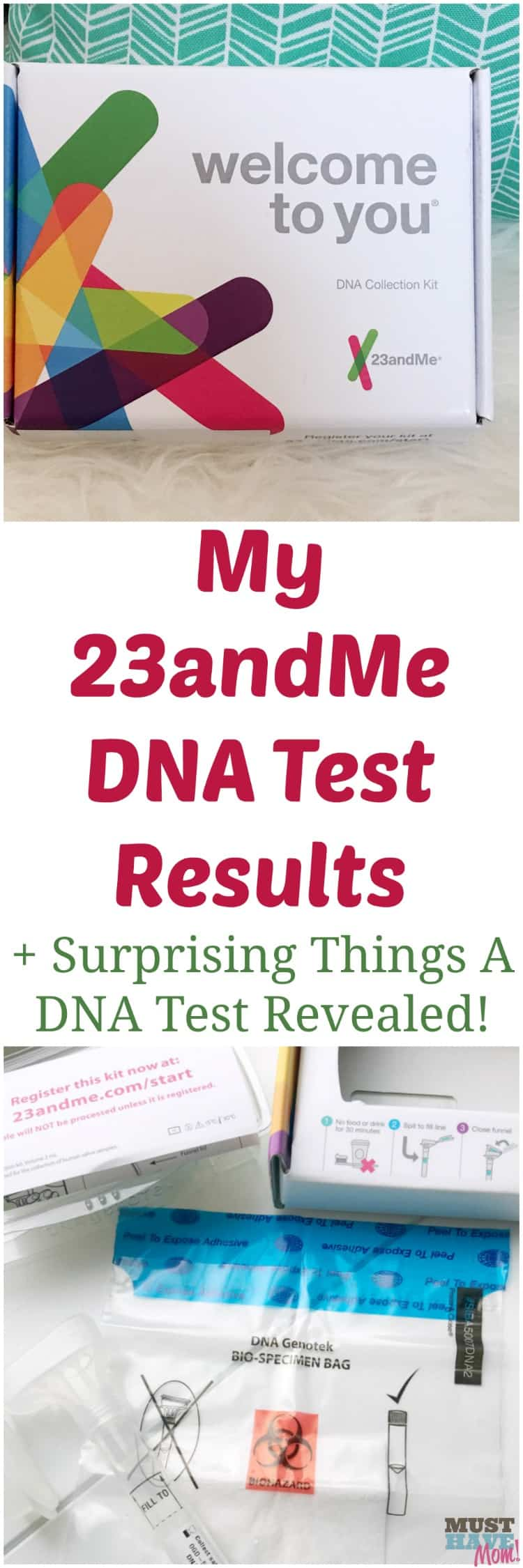 My 23andMe DNA test results + surprising things a DNA test revealed! See how easy the 23andMe process is and read my 23andMe review