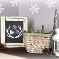 Free Rustic Farmhouse Chalkboard Printable + Christmas Decor Ideas
