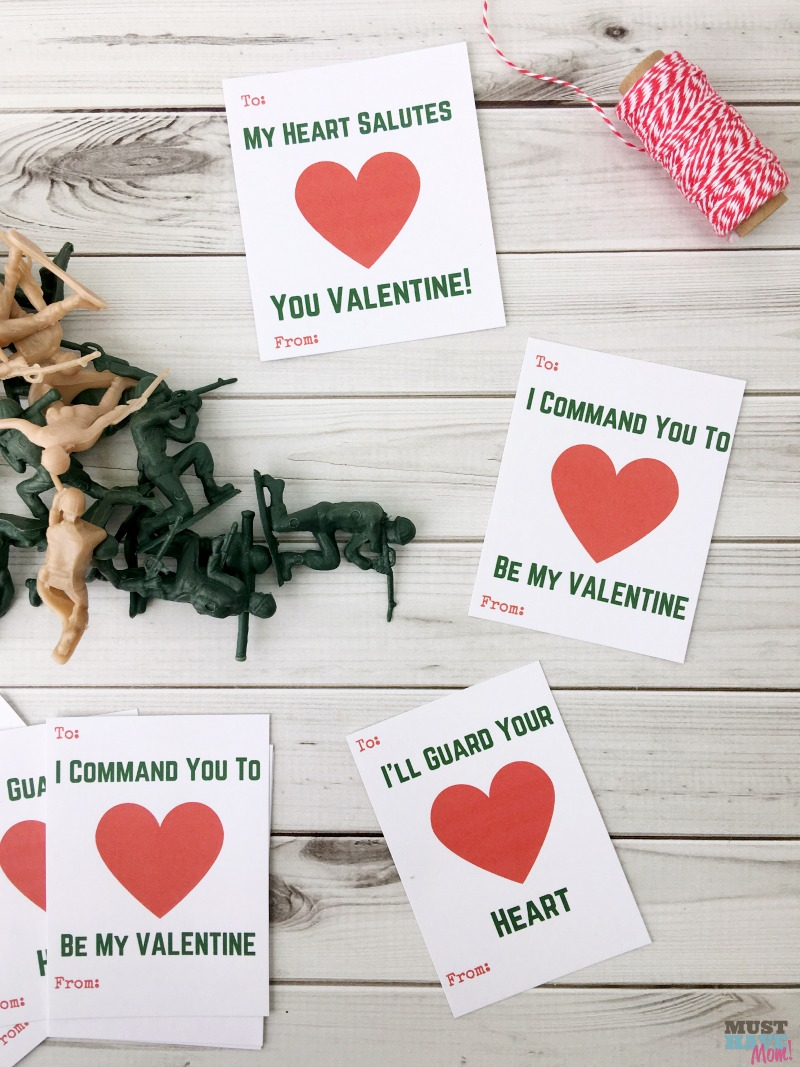 Free Printable Kids Valentine Cards With Army Guys Must Have Mom