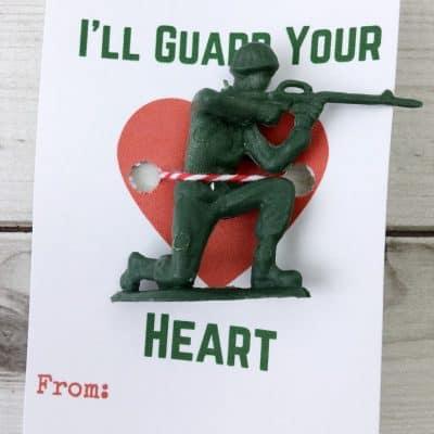 Free Printable Kids Valentine Cards With Army Guys!
