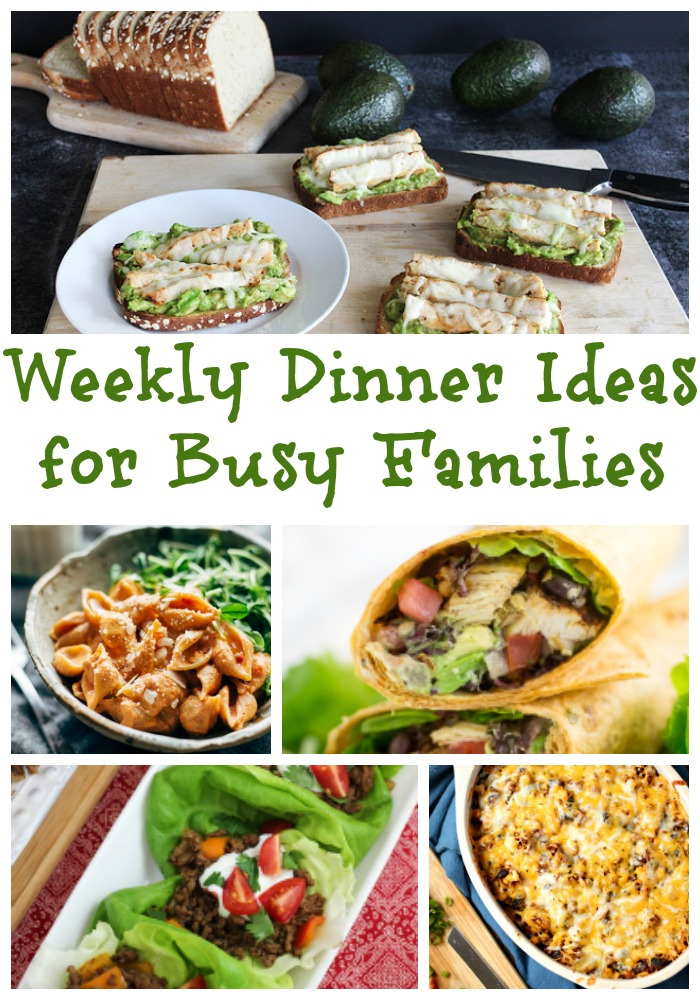 7 weekly dinner ideas for busy families! Free weekly meal plan makes dinner ideas quick and easy. Grab it free now.