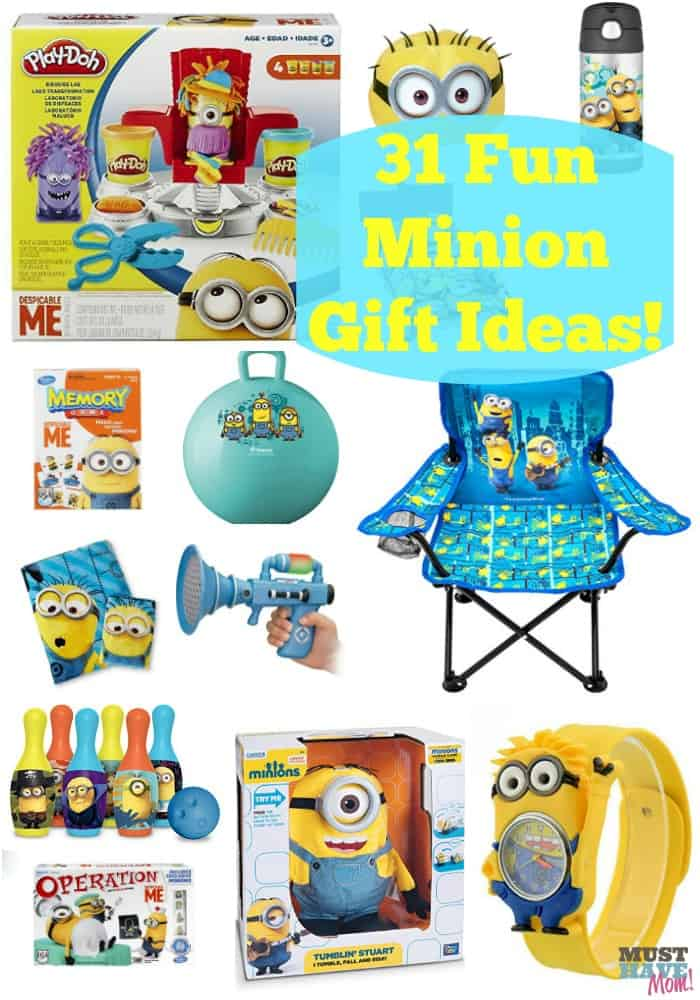 31 Fun Minion Gift Ideas! These minion gifts are perfect for kids of all ages. Love the unique ideas.