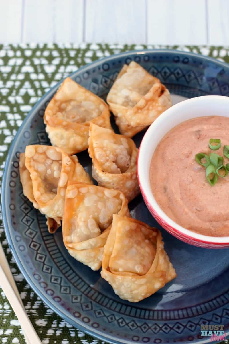 These American Wontons with sloppy joe dipping sauce are a great way to introduce kids to new foods with familiar flavors incorporated! This is the perfect family dinner idea! Go grab the wonton recipe now.