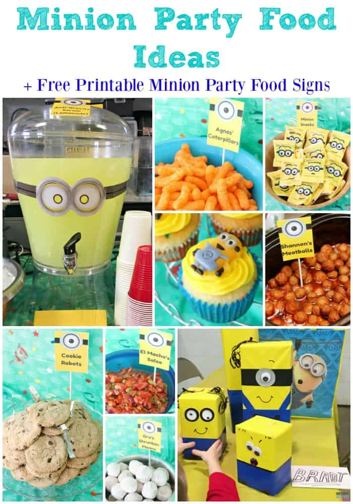 Minion Birthday Party Food Ideas & Free Printable Minions ...