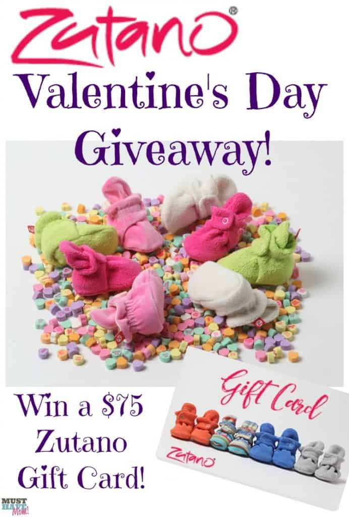 $75 Zutano gift card giveaway! Celebrate Valentine's Day with these adorable toddler outfits from Zutano and don't miss out on their booties that actually stay on baby's feet!