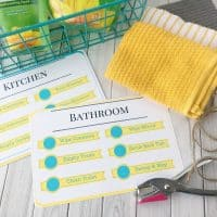 DIY Kids Cleaning Kits With Free Printable Cleaning Checklist & Natural Cleaning Supply List