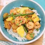 20 Minute Easy Shrimp Recipes: Pineapple Teriyaki Shrimp Rice Bowls