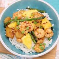 20 Minute Easy Shrimp Recipes: Pineapple Teriyaki Shrimp Rice Bowls
