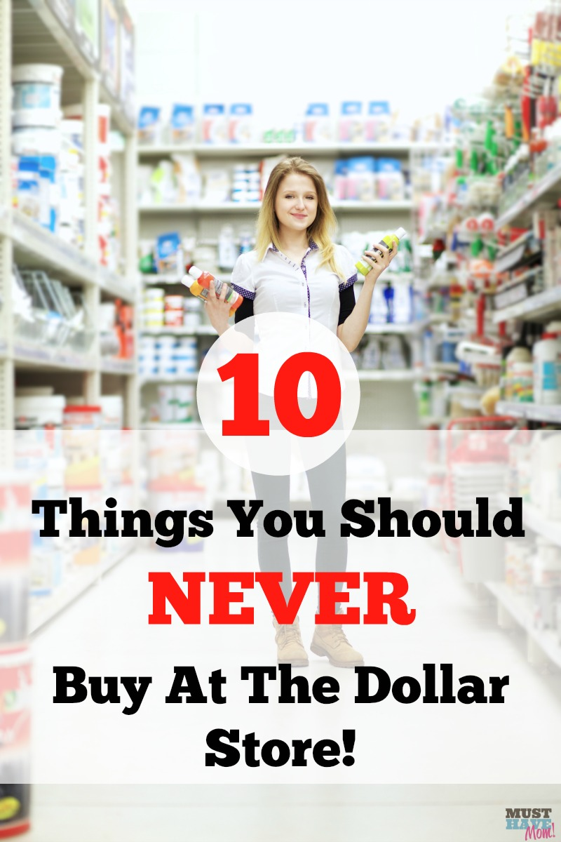10 Things You Should Never Buy at the Dollar Store! Check this list before you think you're getting a deal at the dollar store!