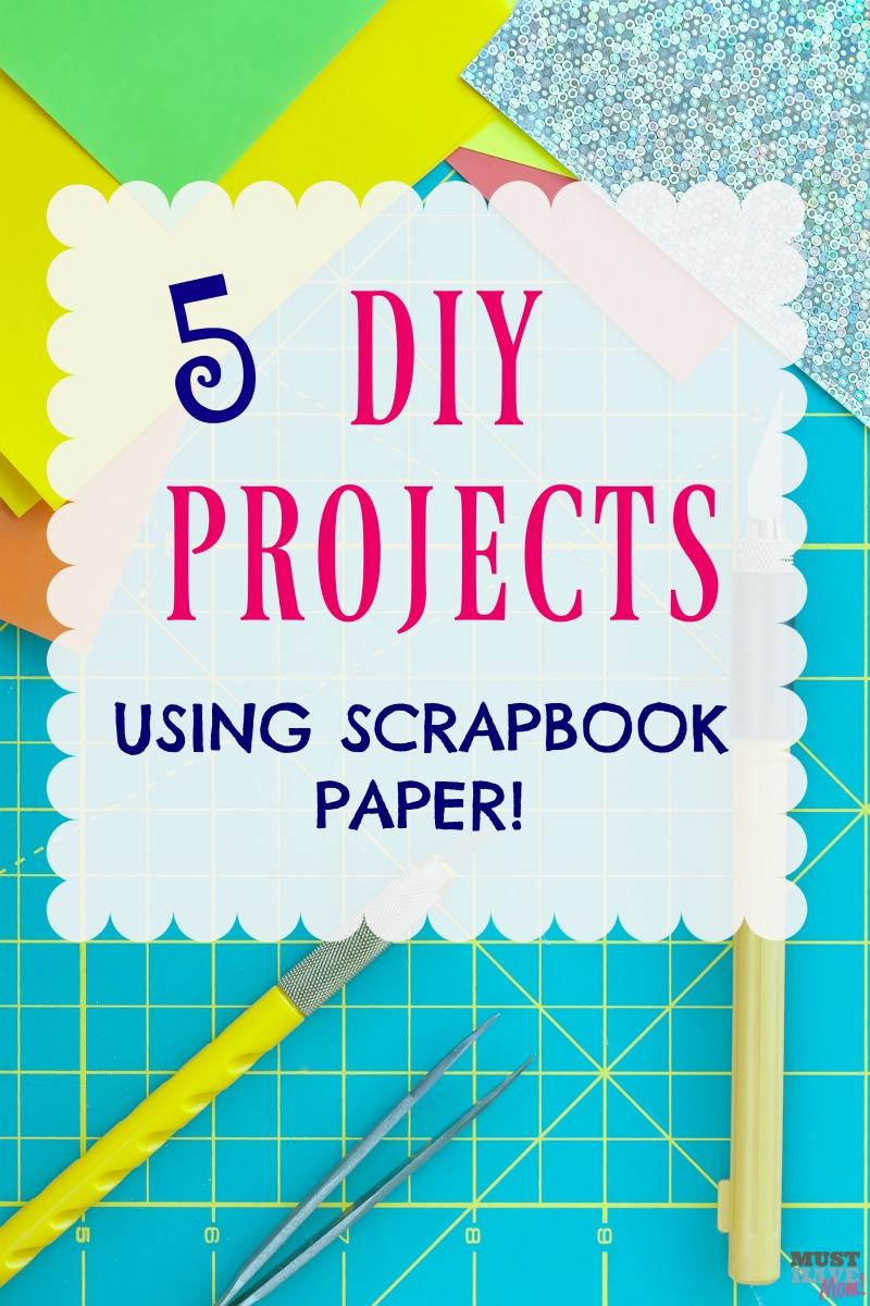 5 DIY projects using scrapbook paper! Put that scrapbook paper to good use with these 5 DIY home projects!