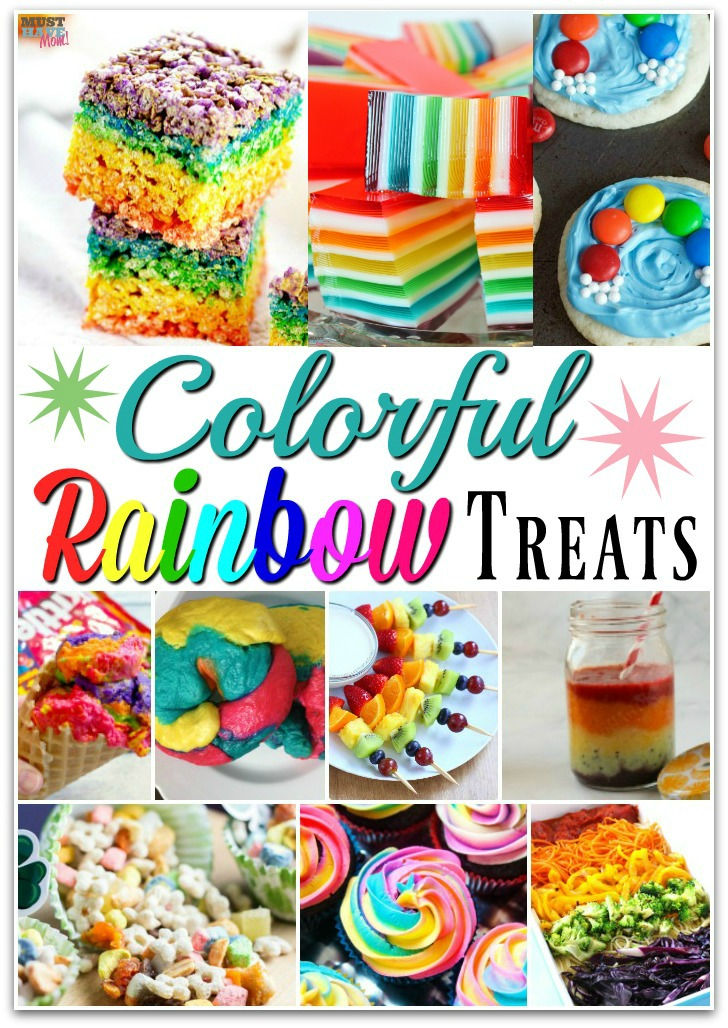 Colorful rainbow party food ideas and rainbow food recipes! Perfect for a rainbow birthday party or holiday gatherings!