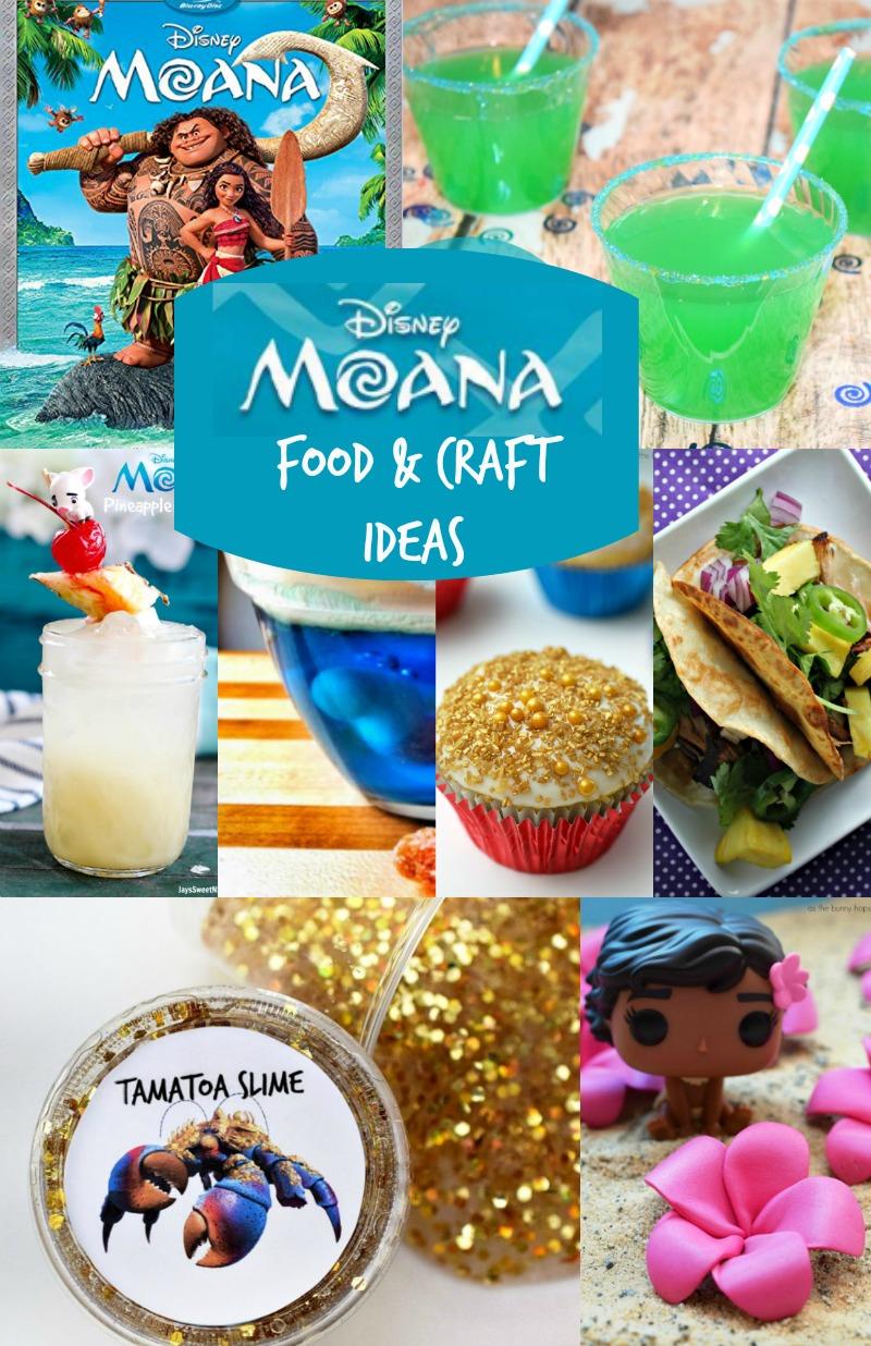 Disney Moana Crafts and Moana Food Ideas! Perfect for Moana party ideas!!