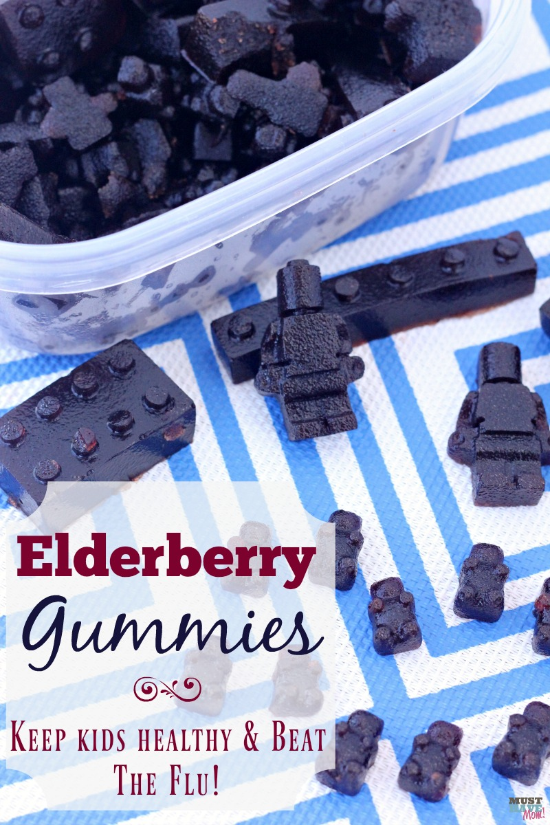 Immune boosting elderberry gummies recipe! Great for kids and adults. Take daily to prevent cold and flu and also to shorten the duration of the flu or a cold!