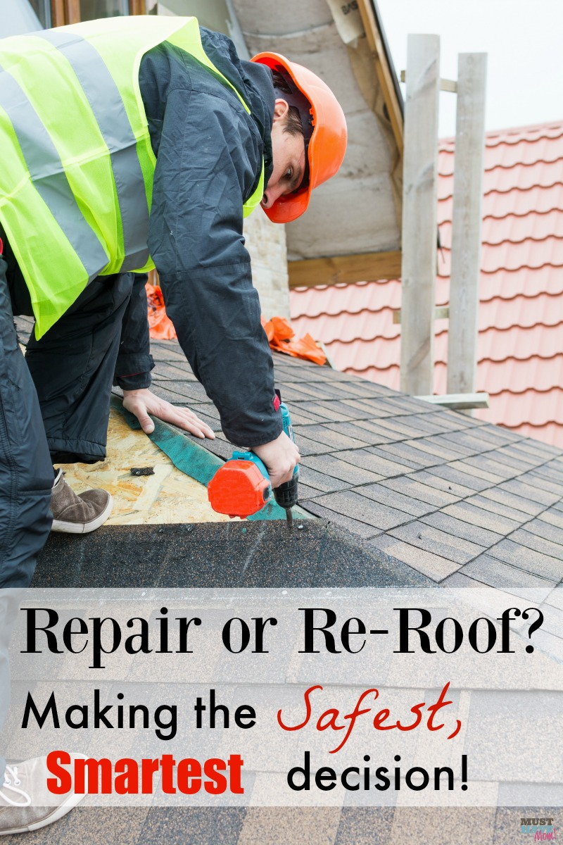 Should you repair your roof or re-roof your roof? Here's a handy guide to making the safest, smartest decision about your home's roof!