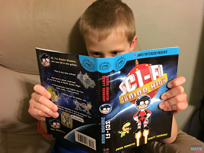 James Patterson new children's book SciFi Junior High is a page turner! Win Sci Fi Junior High and a $100 Visa Gift Card.