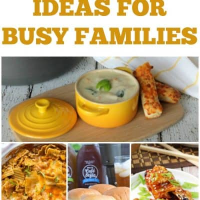 7 Tasty Dinner Ideas For Busy Families! Weekly Meal Plan – Week 26