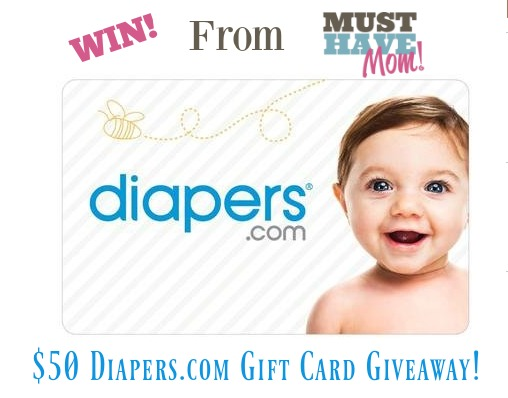 $50 Diapers.com gift card giveaway! Tweet, pin and share on FB for extra entries!