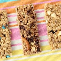 Easy homemade granola bar recipe base! 1 recipe with 8 different varieties! Homemade granola bar healthy, clean ingredients. She makes them every Sunday for the week!