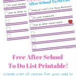 Free Printable Chore List For Kids!