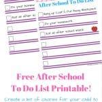 Free Printable Chore List For Kids!