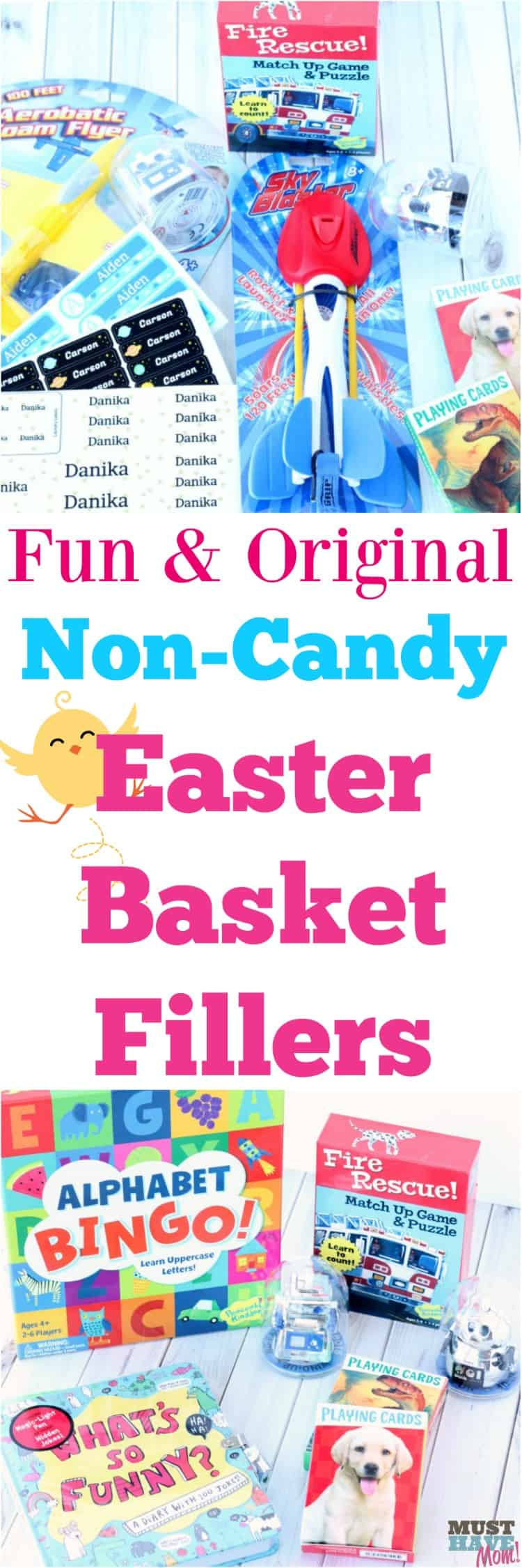 Fun and Original Easter basket fillers that aren't candy! Grab these non-candy Easter basket ideas for your kiddo!