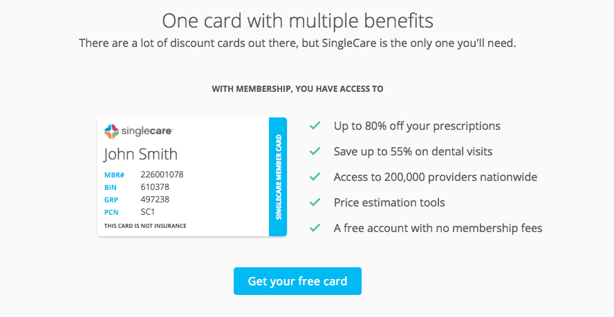 how to save money on healthcare dental and prescriptions even if you dont - Singlecare Prescription Card