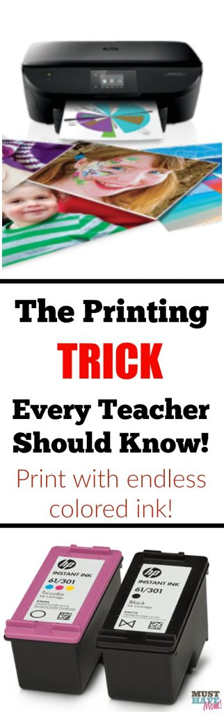 The printing trick every teacher should know about! Print endless color pages!!