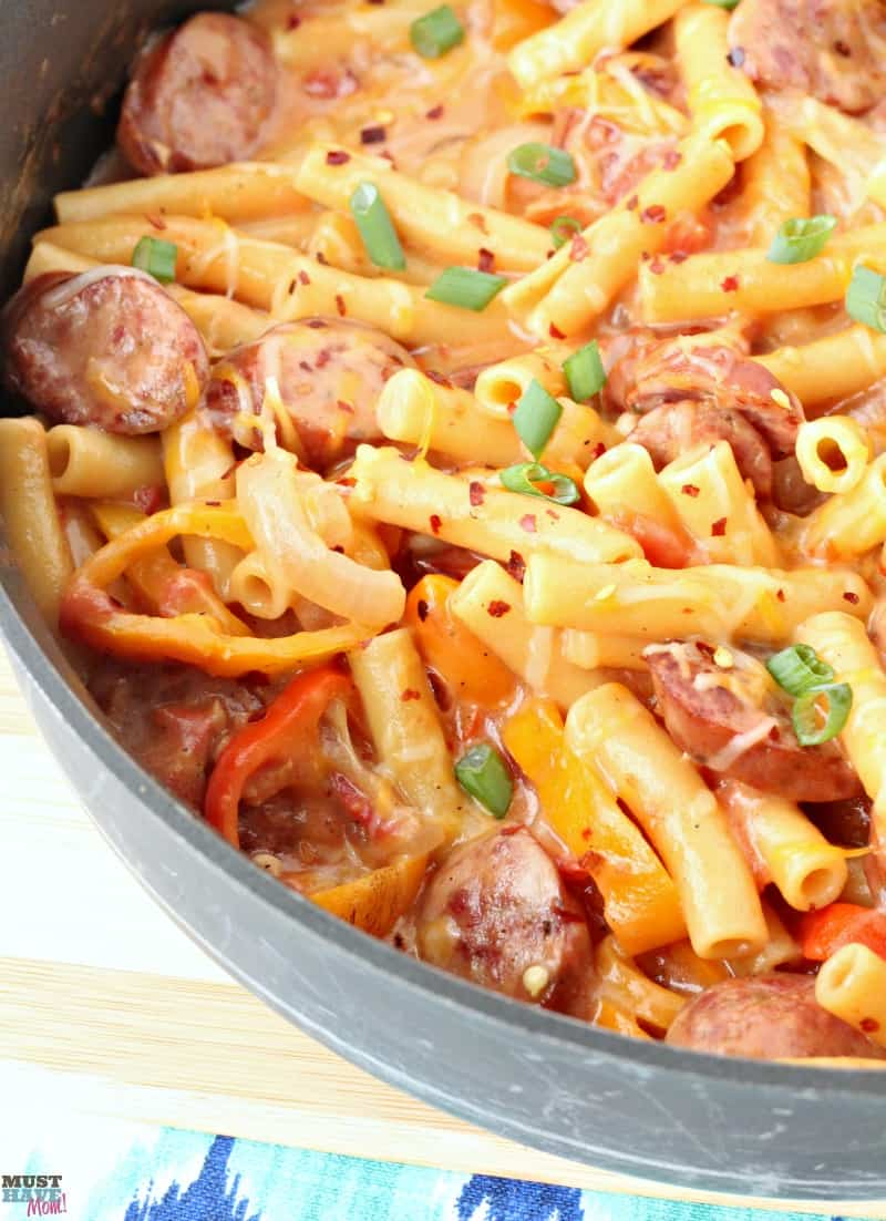 One Pot Pasta Cheesy Polish And Pepper Pasta Recipe Must Have Mom