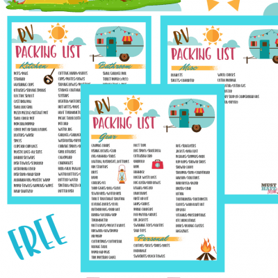 Free RV Checklist Printable Packing List