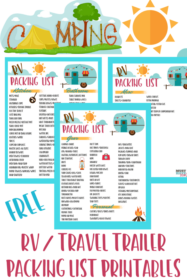 It is a photo of Lucrative Rv Checklist Printable