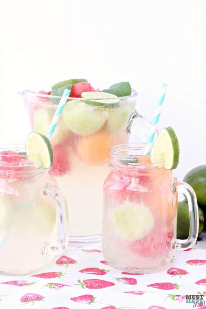 melon ball summer drink