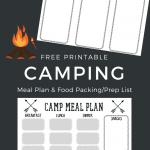 Free Printable Camping Food List + Menu Plan