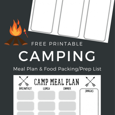 Free Printable Camping Food List + Menu Plan