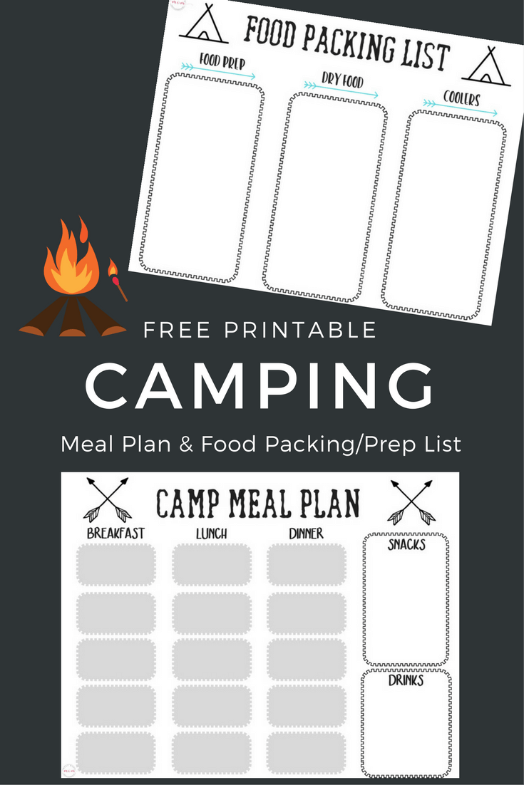 Camping Meal Plan And Food List For Packing Prepping Camp