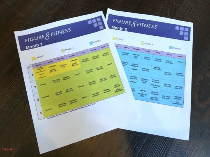 figure 8 fitness workout calendar