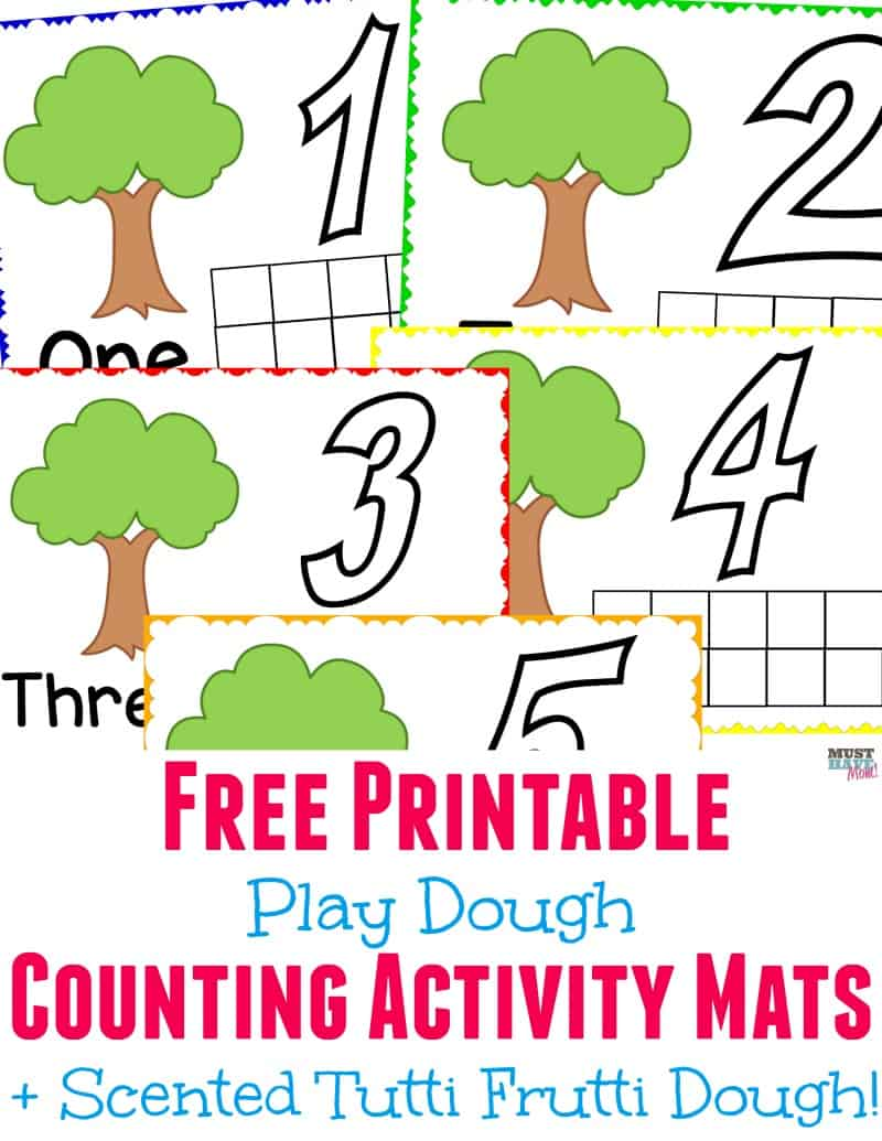 picture relating to Free Printable Playdough Mats identified as Cost-free printable enjoy dough counting match mats furthermore