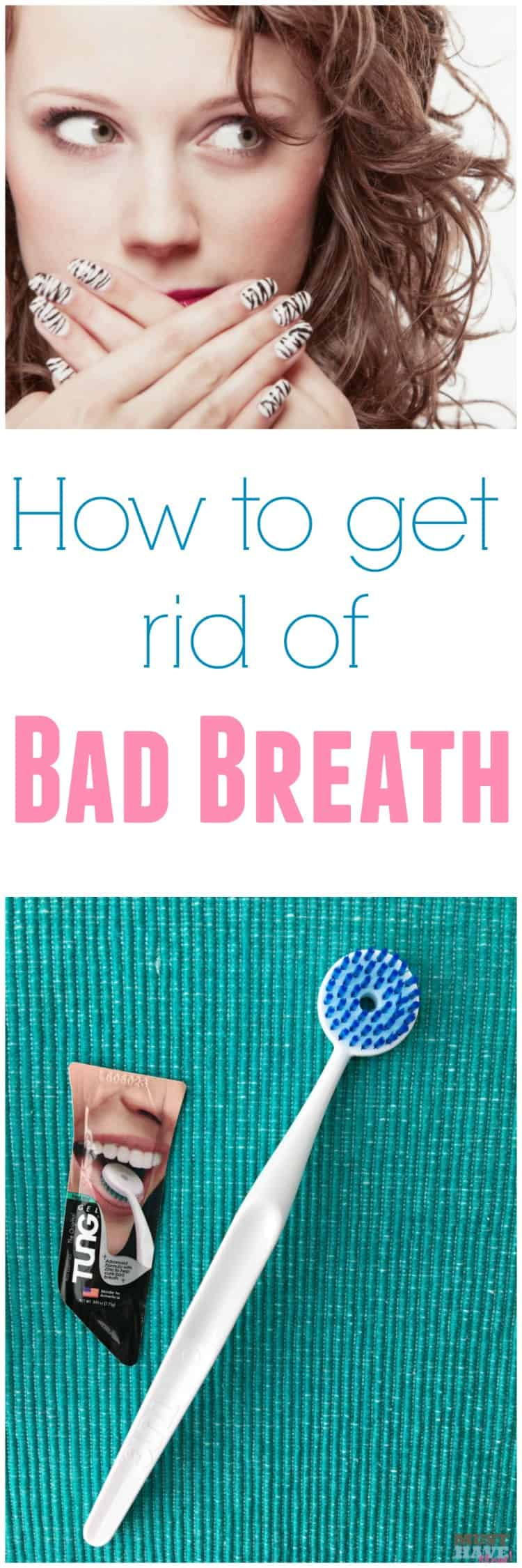 How to get rid of bad breath easily with one simple step! Plus causes of halitosis and cures for bad breath.